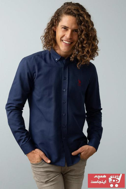 تصویر فروش انلاین پیراهن مردانه مجلسی مارک U.S. Polo Assn.برند US Polo رنگ لاجوردی کد ty3848536