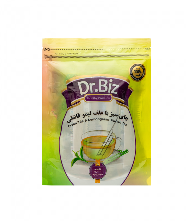 تصویر دمنوش چایی سبز و علف لیمو قاشقی ۱۲ عددی