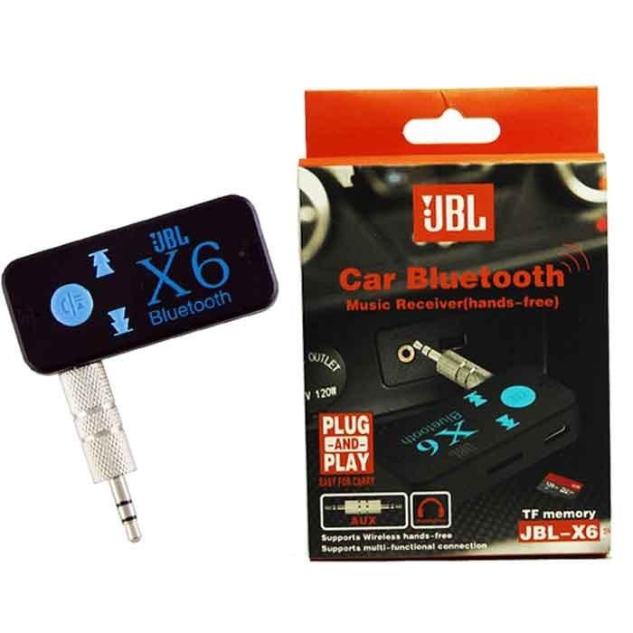 تصویر گیرنده بلوتوثی Car Bluetooth X6 (X6 car wireless music reciever (hands-free