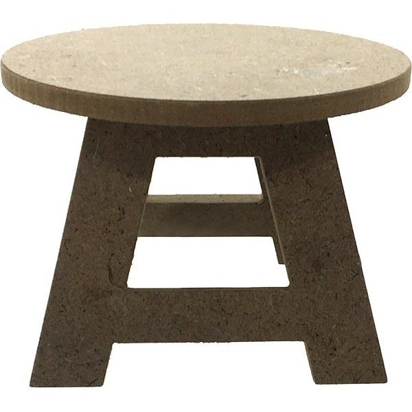 تصویر چهارپایه فانتزی چوبی خام
