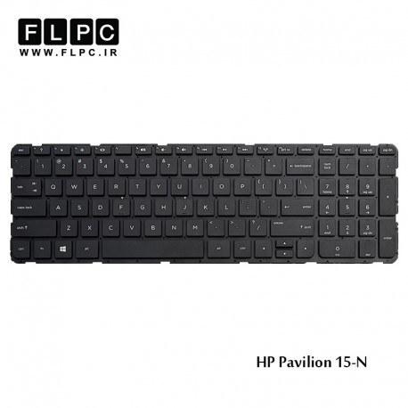 تصویر کیبورد لپ تاپ اچ پی HP Pavilion 15-N Laptop Keyboard مشکی-اینتر کوچک-بدون فریم
