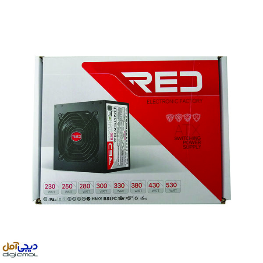 منبع تغذیه کامپیوتر RED مدل alpha380w