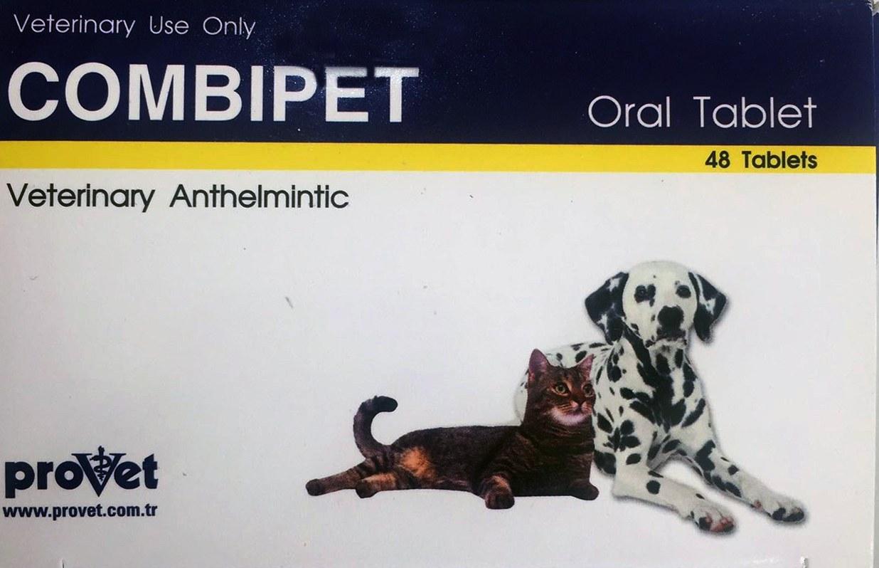 قرص ضد انگل مخصوص سگ و گربه  COMBIPET Provet