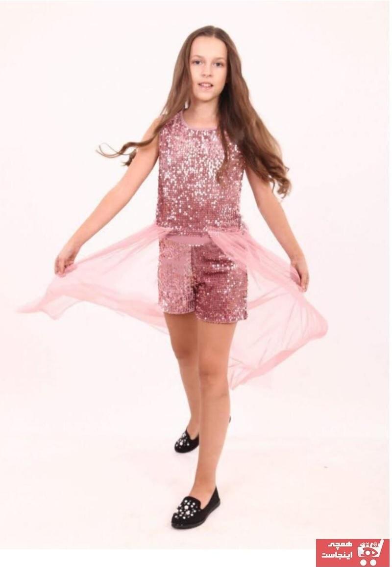تصویر لباس مجلسی لباس مجلسیک دخترانه برند Marions رنگ صورتی ty40179525