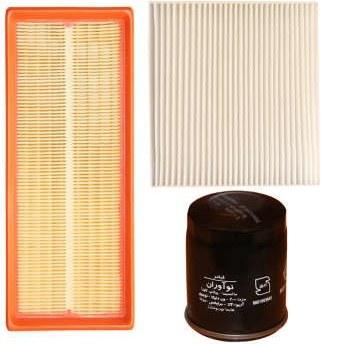 فیلتر هوا خودرو سرعت فیلتر مدل C365 مناسب برای برلیانس H230 به همراه فیلتر کابین و فیلتر روغن