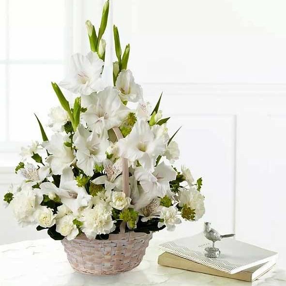تصویر سبد گل ترحیم کوچک