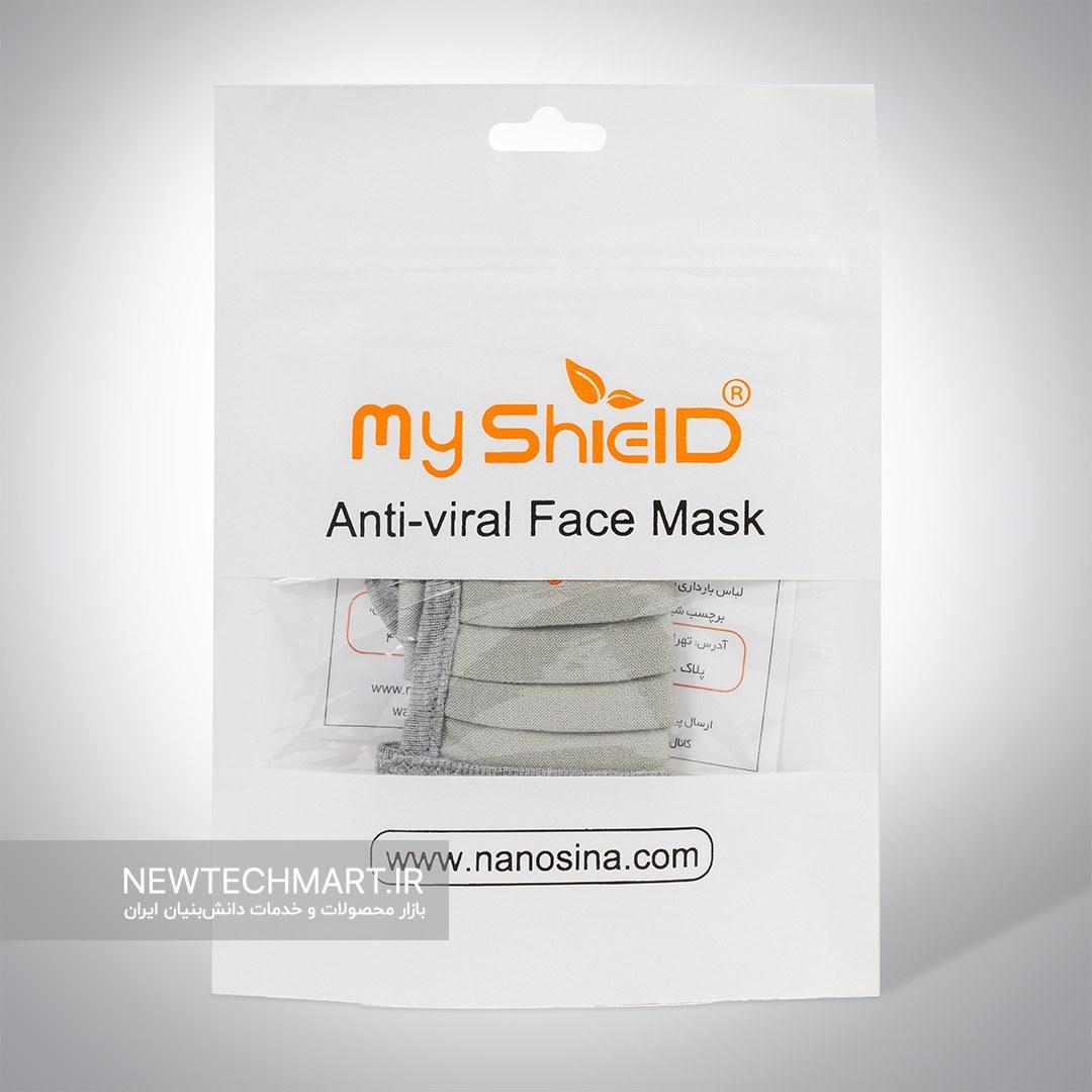 تصویر ماسک پارچهای قابلشستشوی ضدویروس و باکتری با الیاف نقره مایشیلد با لایه کتان (MyShield) (ماسک نانوسینا)