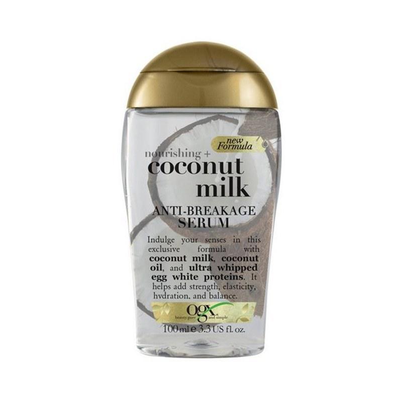 تصویر سرم موی او جی ایکس ضد شکستگی شیر نارگیل Ogx Nourishing Coconut Milk Anti_Breakage Serum
