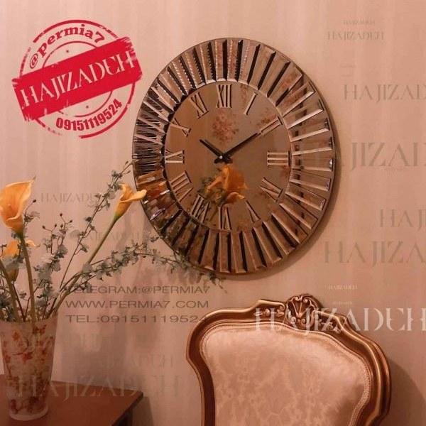 تولیکا ساعت دیواری اینه ای برنزی خورشیدی   5115 |