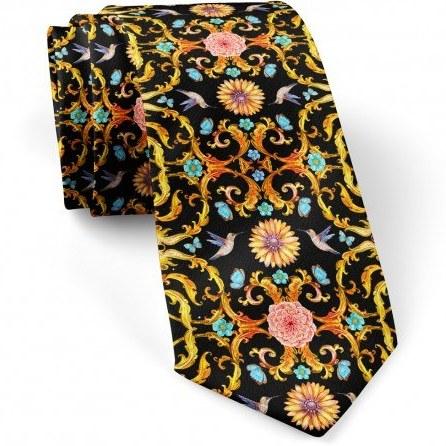 کراوات کلاسیک گل و پروانه |