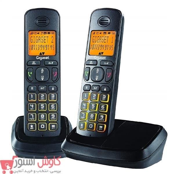گوشی تلفن بی سیم گیگاست مدل A۵۰۰ Duo