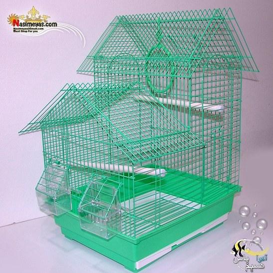 قفس پرنده کلبه ای سبز رنگ کد A408 دایانگ