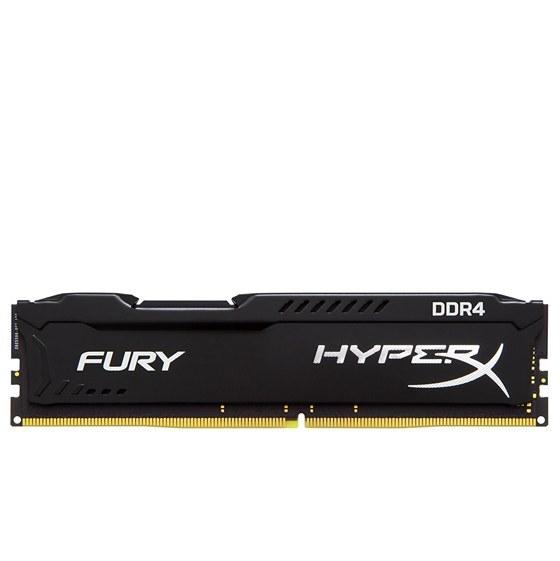تصویر رم دسکتاپ DDR4 تک کاناله 2400 مگاهرتز کینگستون CL15 HyperX FURY ظرفیت 8 گیگابایت KingSton HyperX FURY DDR4 2400MHz CL15 Desktop RAM - 8GB