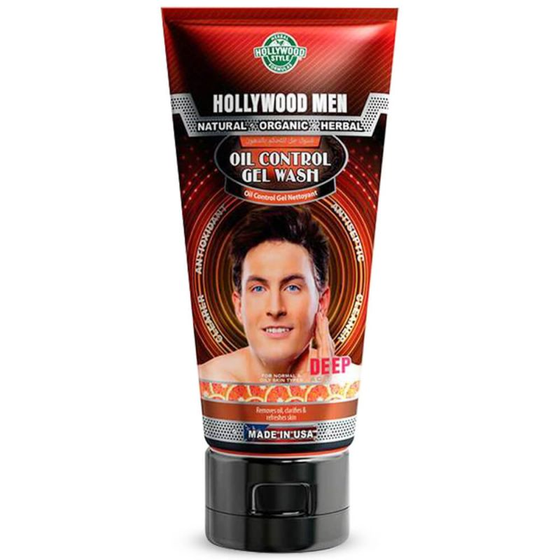 Hollywood Style Oil Control Gel Wash For Men 150 ml