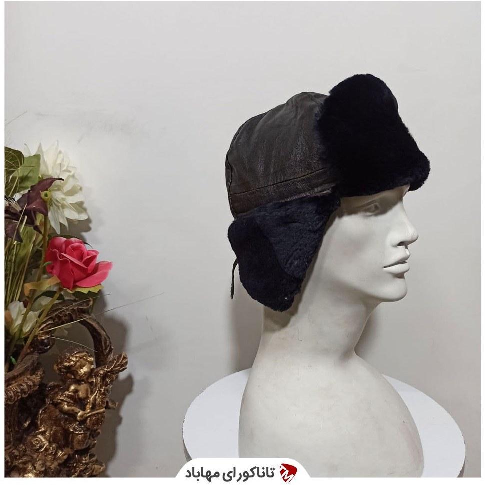 تصویر کلاه چرم خزدار مشکی روسی Russian hat