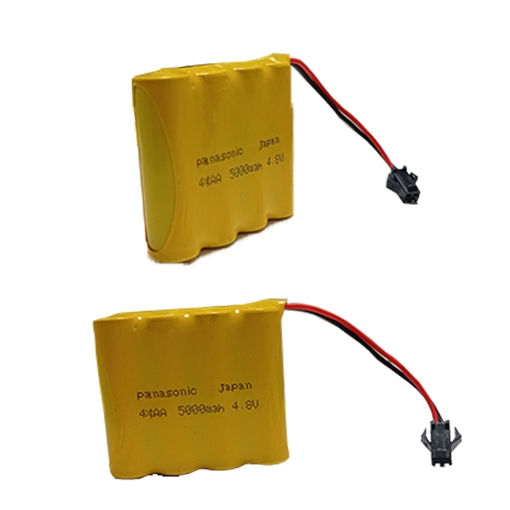 تصویر باتری اسباب بازی 4.8 ولت شارژی 5000ma مدل 4xAA