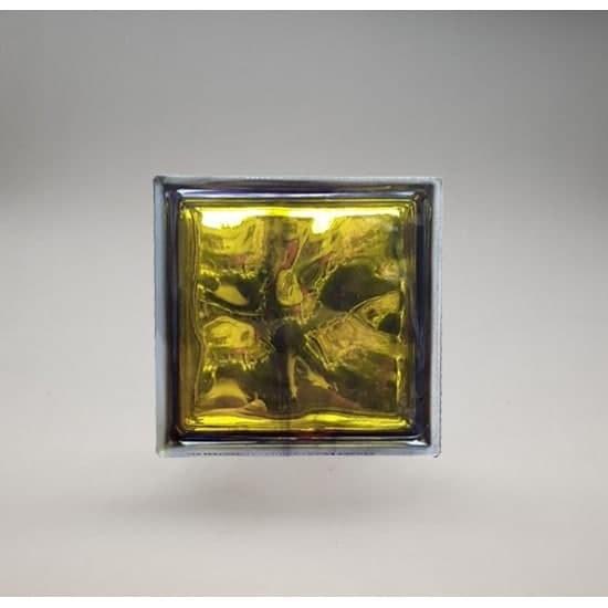 تصویر بلوک شیشه ای کاوه مدل کلودی زرد