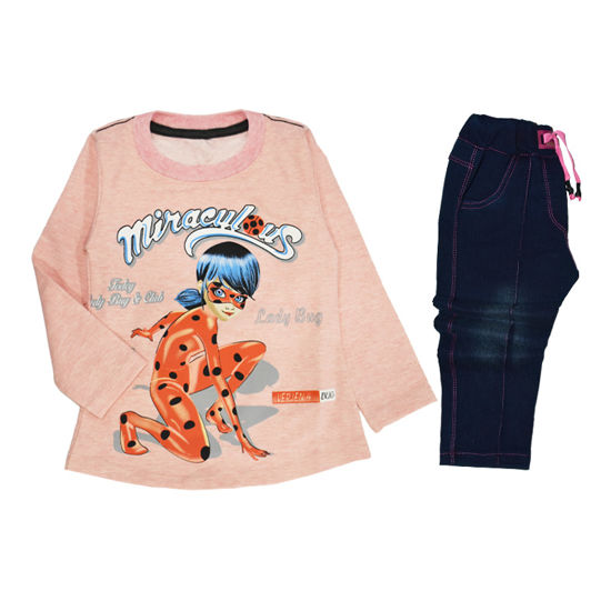 تصویر ست لباس دخترانه مدل 730-1 1-730 Clothing Set For Girls