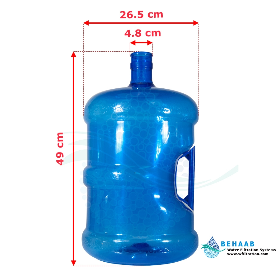 تصویر مخزن آبسردکن 20 لیتری دسته دار 20 Liter Water Dispenser Bottle With Handle