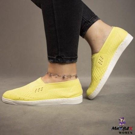 کتانی دخترانه زرد جورابی
