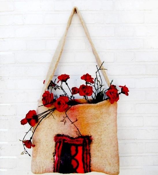 کیف زنانه نمدی دست ساز