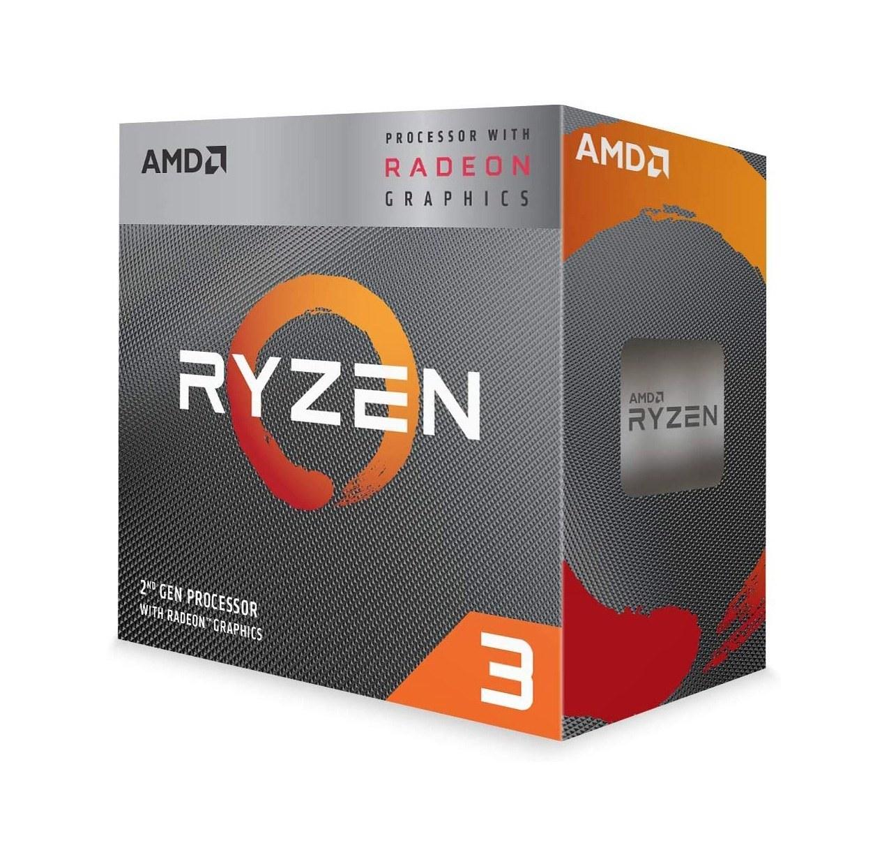 تصویر پردازنده مرکزی ای ام دی مدل AMD Ryzen 3 3200G CPU AMD Ryzen 3 3200g
