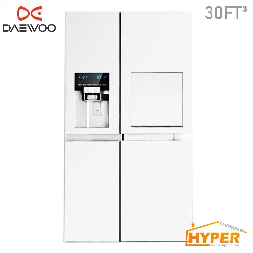 عکس یخچال فریزر ساید بای ساید دوو 30 فوت سفید مدل DAEV00 D2S-3033GW REFRIGERATOR  یخچال-فریزر-ساید-بای-ساید-دوو-30-فوت-سفید-مدل-daev00-d2s-3033gw-refrigerator