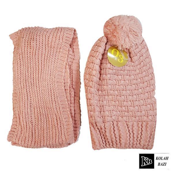 image شال و کلاه بافت مدل shk63 Textured scarf and hat shk63