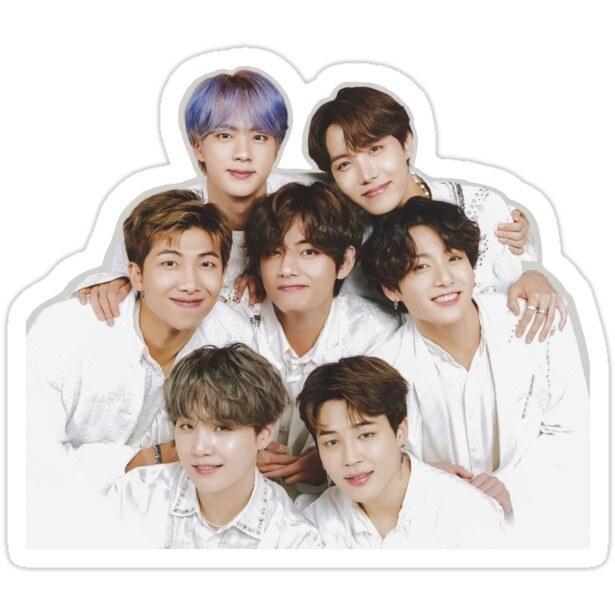 تصویر استیکر لپ تاپ گروه BTS -  اعضای گروه بیتیاس در کنار هم