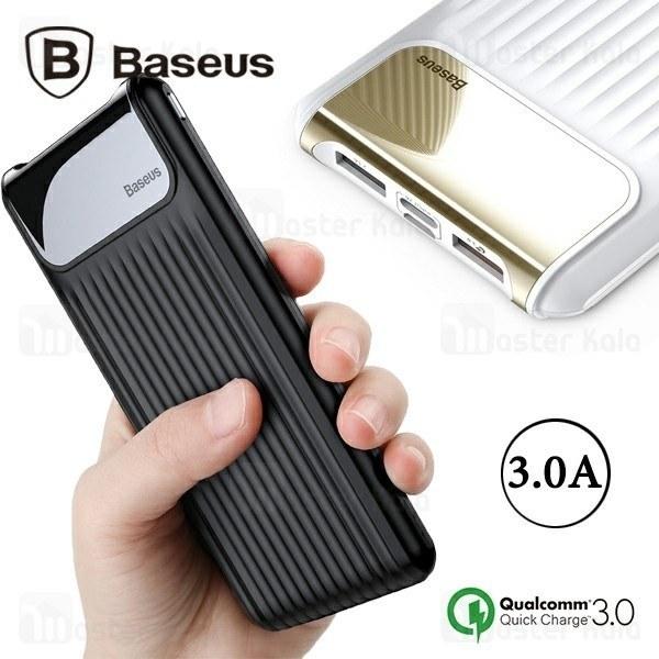 پاوربانک 10000 فست شارژ بیسوس Baseus Thin QC3.0 M+T Digital Display PPYZ-C01