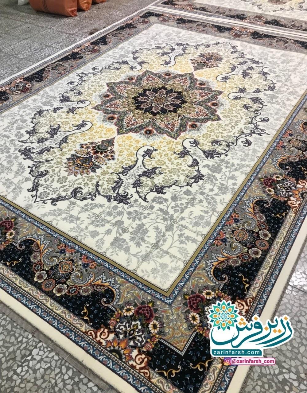 عکس فرش ماشینی 700 شانه طرح هیوا  فرش-ماشینی-700-شانه-طرح-هیوا