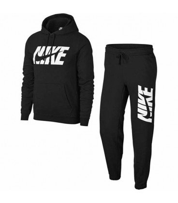 گرمکن و شلوار نایک Nike NSW Jersey Graphic Black Full Tracksuit AR1341-010