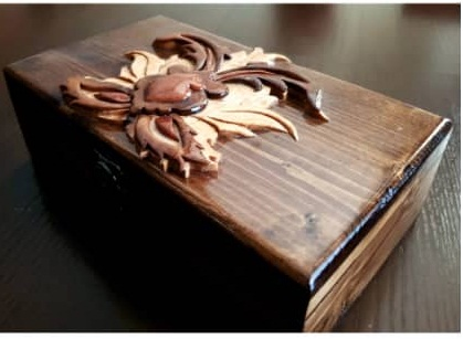 جعبه منبت و معرق تمام چوب کد ۰۲۸