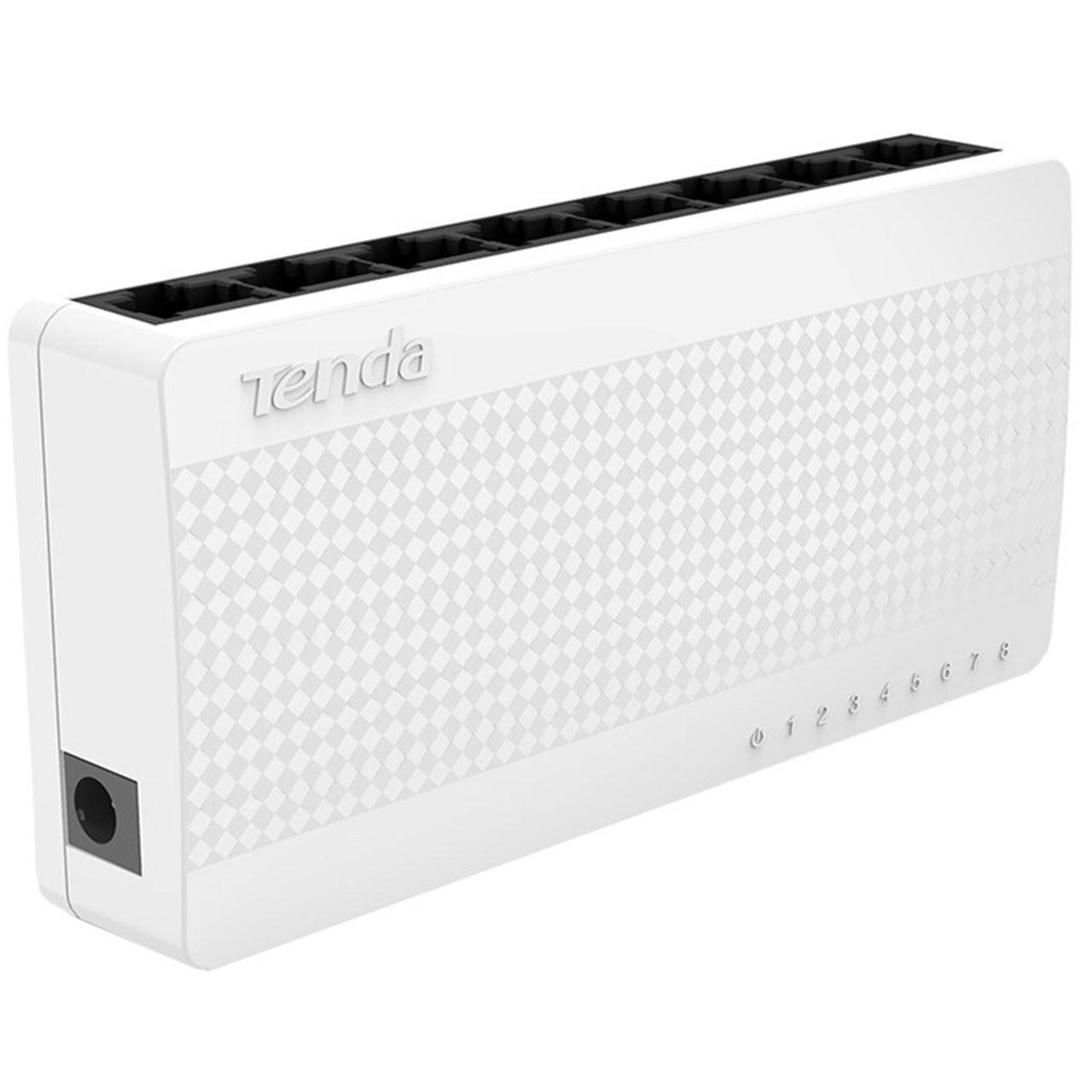 تصویر سوییچ شبکه 8 پورت 10/100 تندا اس 108 ا Tenda 8-Port 10/100 Switch S108 Tenda 8-Port 10/100 Switch S108