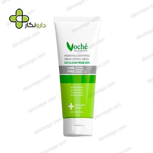 تصویر کرم آبرسان وچه مخصوص پوست های چرب و مستعد به آکنه حجم 60 میل Voche Hydrating Cream For Oily And Acne Prone Skin 60ml