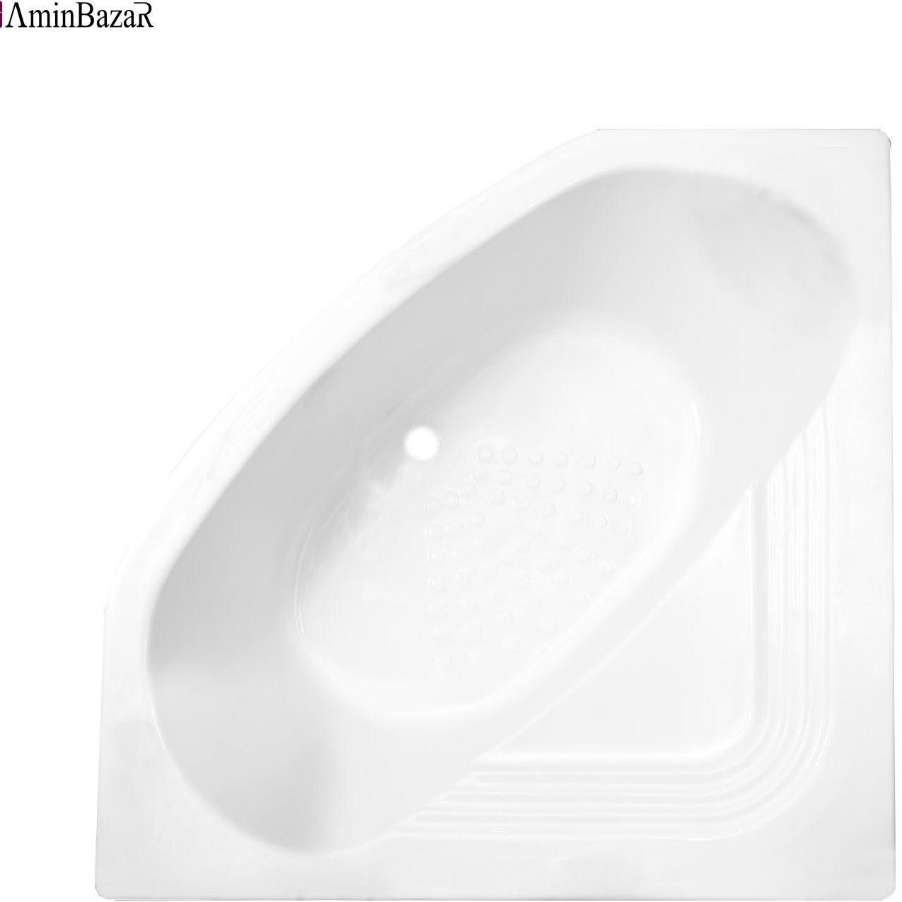تصویر وان حمام توکار سنی پلاستیک مدل آتلانتیک بدون شاسی و پانل اندازه 140 * 140 سانتیمتر