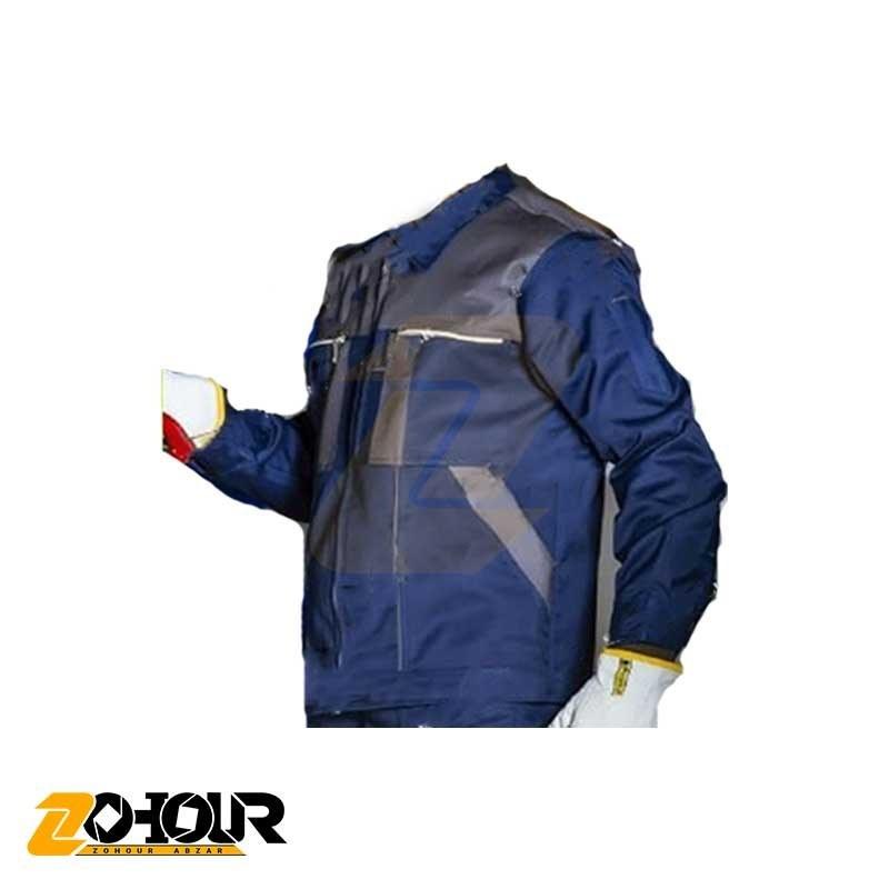 تصویر لباس کار کاپشن شلوار مهندسی رنگ سورمه ای طوسی سایز XL