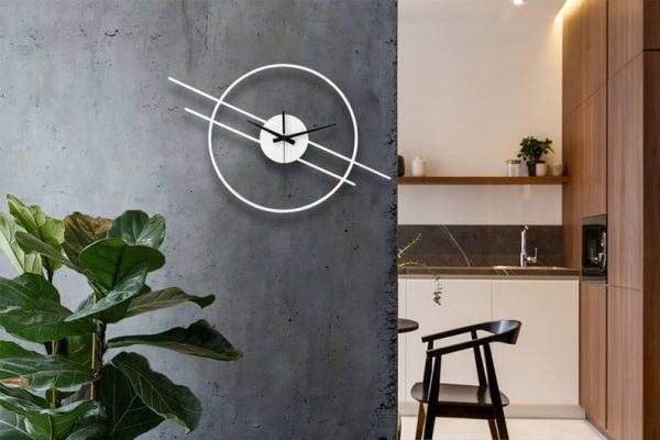 تصویر ساعت دیواری طرح مدرن دوخطی
