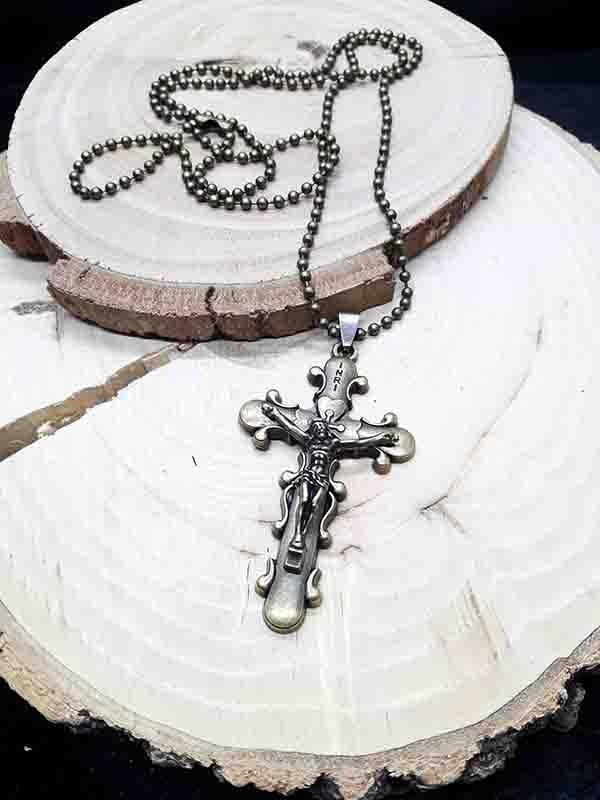 تصویر گردنبند صلیب طلایی کد zsn-01