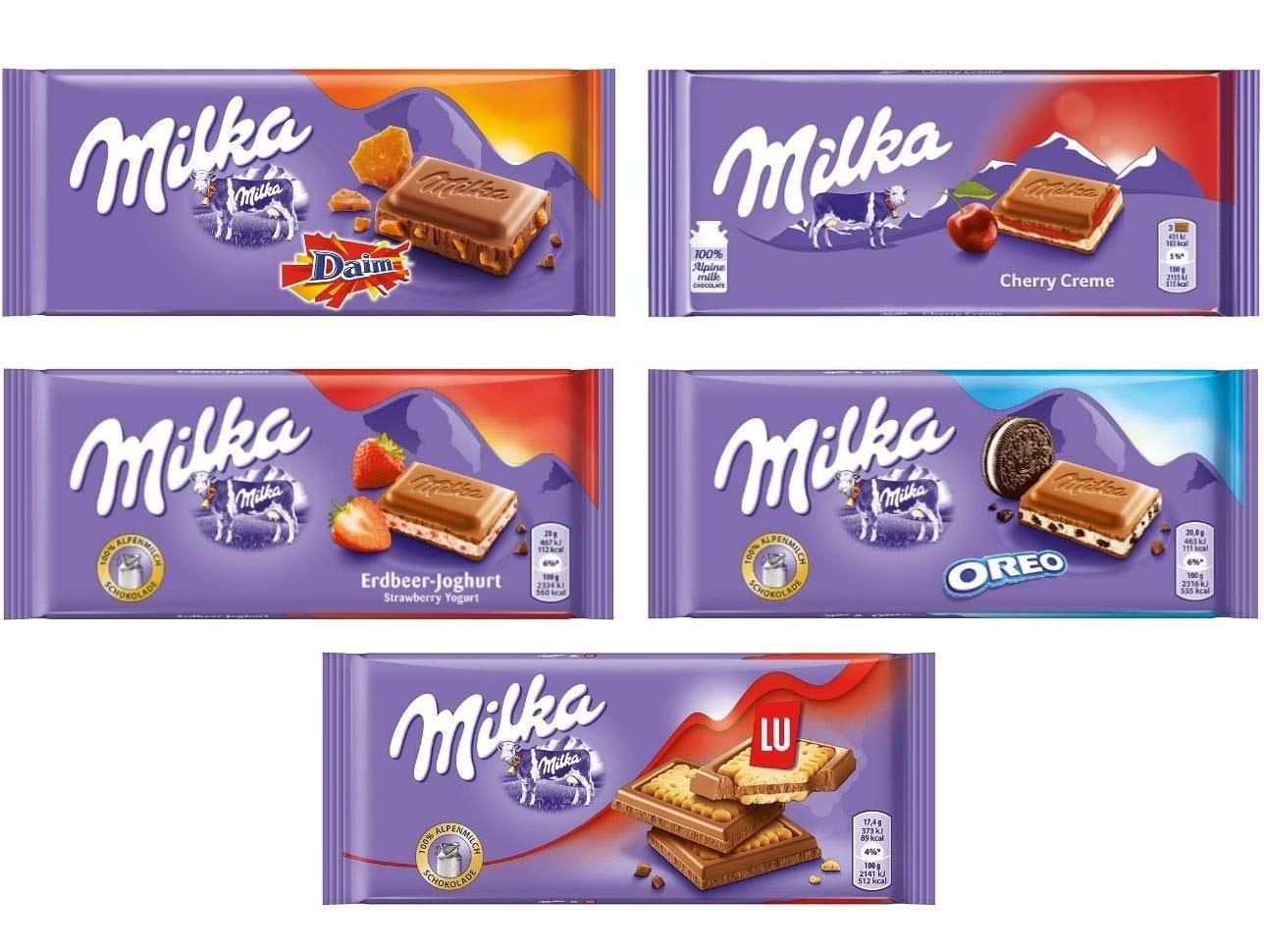 ۳عدد شکلات تخته ای میلکا اورجینال Milka Chocolate |