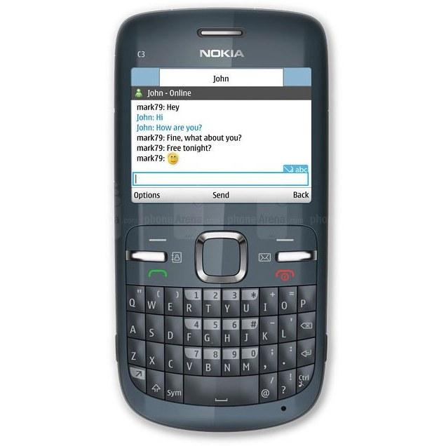 تصویر قاب و شاسی کامل گوشی نوکیا Nokia C3 Full frame and chassis Nokia C3-00