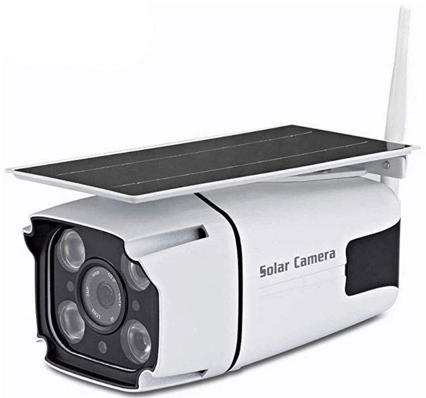 دوربین تحت شبکه بی سیم پنل خورشیدی
