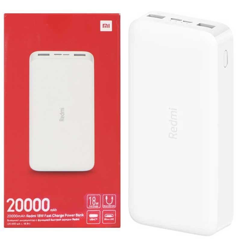 تصویر Xiaomi Redmi 20000mAh Power Bank شارژر همراه شیائومی مدل Redmi ظرفیت 20000 میلی آمپر ساعت