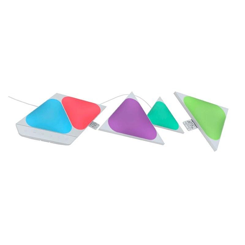 تصویر پنل هوشمند روشنایی نانولیف مدل Mini Triangle Starter Kit تعداد 5 عددی