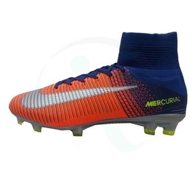 کفش فوتبال نایک مرکوریال طرح اصلی نارنجی آبی Nike Mercurial