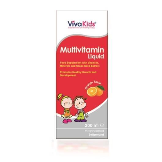 ویوا تیون شربت مولتی ویتامین ویوا کید | viba tune multivitamin liquid