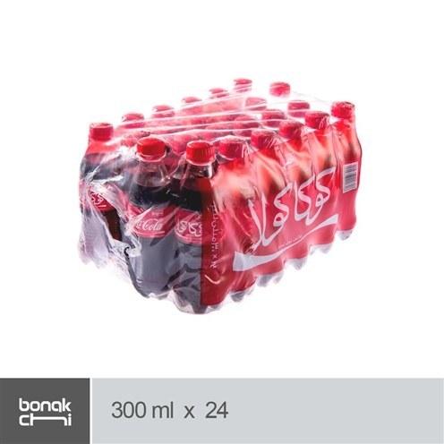 تصویر بسته ۲۴ عددی نوشابه کولا کوکاکولا ۳۰۰ میلی لیتری -