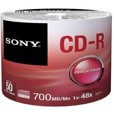 سی دی خام سونی بسته ۵۰ عددی |