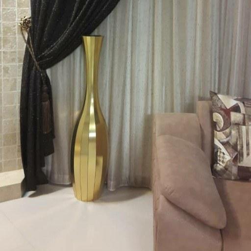 گلدان چوبی سایز بزرگ رنگ طلایی