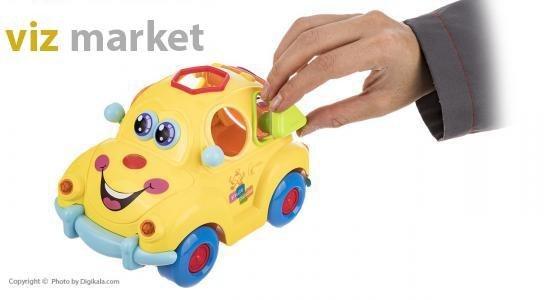 تصویر ماشین آموزشی لِگو موزیکال مارک هویلی تویز Huile toys intelligent fruit car